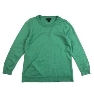 J Crew Dark Seafoam Green Tippi Merino Sweater